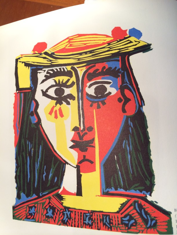 Picasso reduction print 1962 Bust of a woman with a hat
