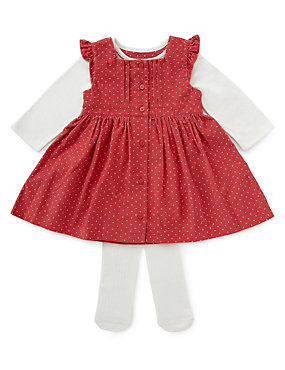 Pink dress T shirt and tights for baby