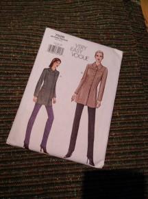 Jacket pattern and fabric