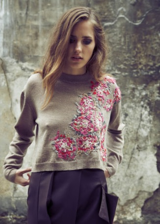 Laura Helen Searle embroidered jumper