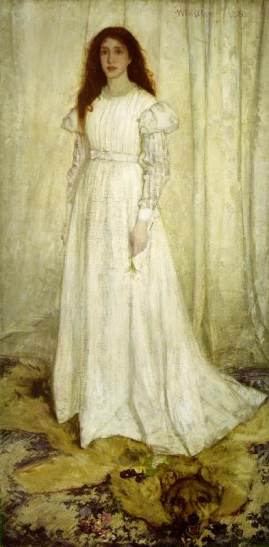 Whistler portrait of young women in artistic dress